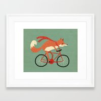 mr fox Framed Art Prints featuring mr. fox by tesslucia
