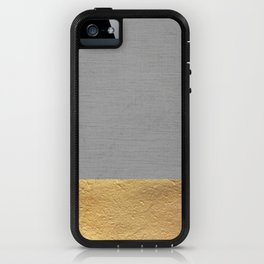 Color Blocked Gold & Grey iPhone Case