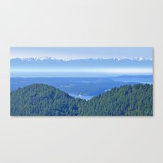 OLYMPIC RANGE AND THE STRAIT OF JUAN DE FUCA FROM ORCAS ISLAND Canvas Print
