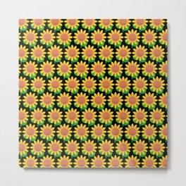 Sunflower Pattern_C Metal Print