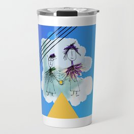 Holding Hands in the sky Travel Mug