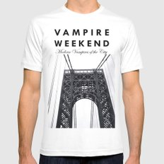 Vampire Weekend / George Washington Bridge 2X-LARGE Mens Fitted Tee White