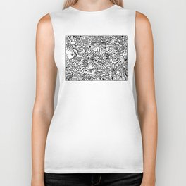 Somewhere Together black and white Biker Tank