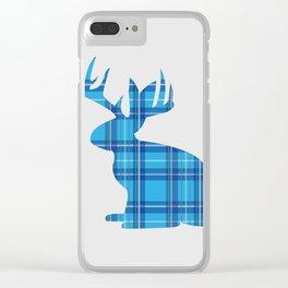 Lumberjackalope (Light Blue) Clear iPhone Case