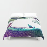 surfer Duvet Covers featuring Time surfer  by jbjart