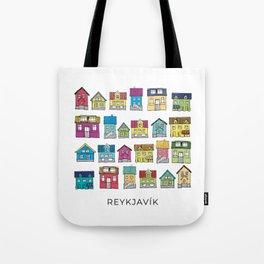 Houses of Reykjavík Tote Bag