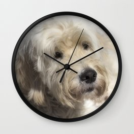Dog Goldendoodle Golden Doodle Wall Clock