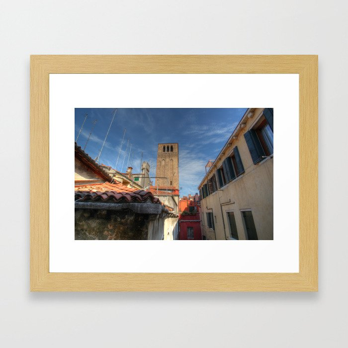 Venice belltower Framed Art Print