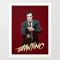 quentin tarantino Art Prints featuring Quentin by CromMorc