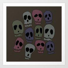 Skulls-2 Art Print