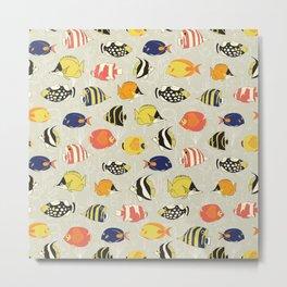 Tropical Reef Fish Metal Print