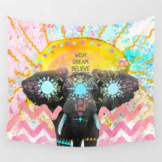 Wish, Dream, Believe. Wall Tapestry