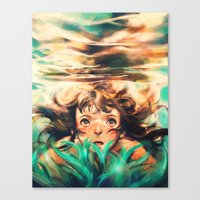 chihiro Canvas Prints featuring The River by Alice X. Zhang