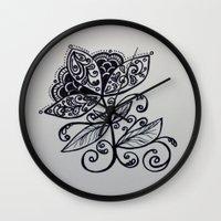 fierce Wall Clocks featuring fierce by lindsay marie