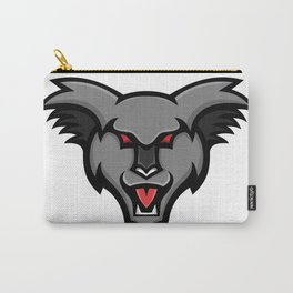 Angry Koala Head Mascot Carry-All Pouch