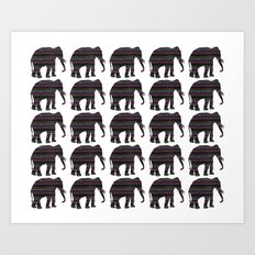 Elephants on Parade Art Print