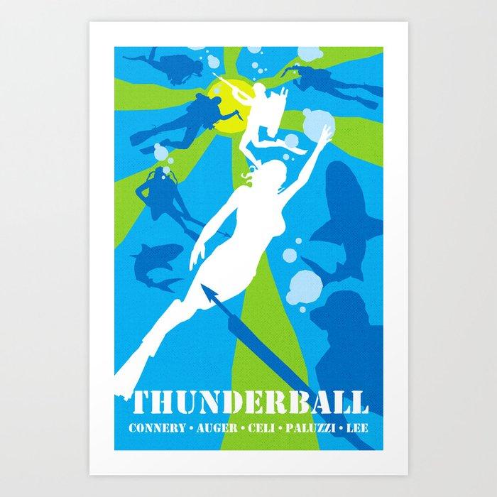 James Bond Golden Era Series :: Thunderball Art Print