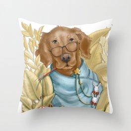 Don Golden retriever Throw Pillow