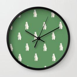 Jolly Polar Bears Wall Clock