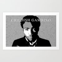 childish gambino Art Prints featuring Childish Gambino by Dan Still