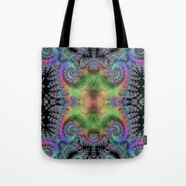 Psychedelic Fractal Kaleidoscope Tote Bag