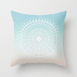 Beach Style Mandala Throw Pillow