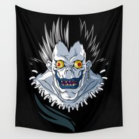 akira Wall Tapestries featuring Shinigami Love Apples by Artistic Dyslexia