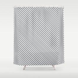 Sharkskin Stripe Shower Curtain