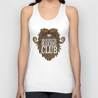 manchester Tank Tops featuring Manchester Bearding Club Tshirt by Dastardly Dave