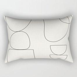 Minimal Abstract Shapes 03 Rectangular Pillow