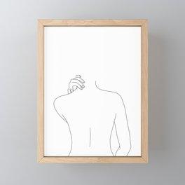 Nude back line drawing - Mai Framed Mini Art Print