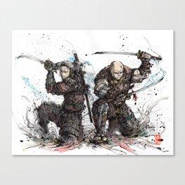 Samurai Duo - Samurai Witchers! Canvas Print