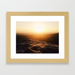 Magazine Sunset Framed Art Print