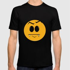 Vampire Smilie Black Mens Fitted Tee MEDIUM