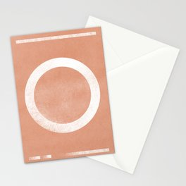 Circle minimal artwork Stationery Cards
