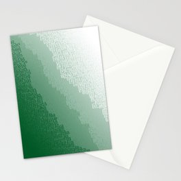 Green Cloudburst Stationery Cards