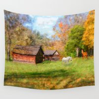 tennessee Wall Tapestries featuring Horse Farm in Tennessee by Mary Timman