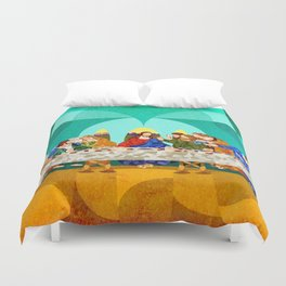 Curves - Last Supper Duvet Cover