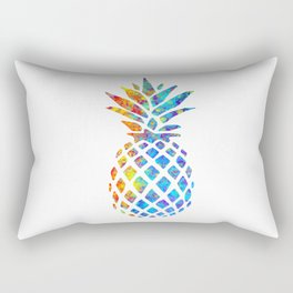 Watercolor and Splatter Pineapple I Rectangular Pillow