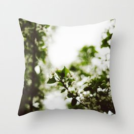 Springtime Snowflakes Throw Pillow