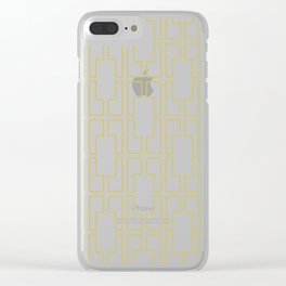 Simply Mid-Century in Mod Yellow Clear iPhone Case