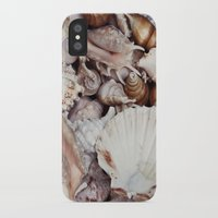 seashell iPhone & iPod Cases featuring seashell by Pink Revenge