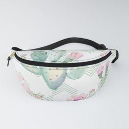 Cactus Rose Deconstructed Chevron Fanny Pack