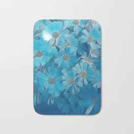 abstract daisy in bloom in spring Bath Mat