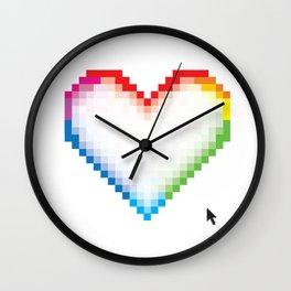 Pixel Love Wall Clock