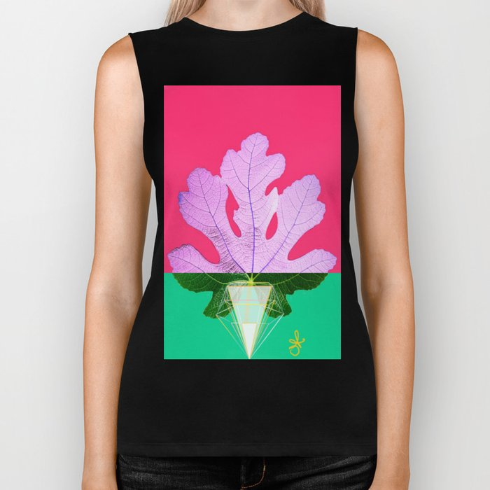Fig Leaf Diamond Christmas Half and Half Biker Tank