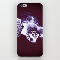 sea turtle iPhone & iPod Skins featuring Sea Turtle by DistinctyDesign