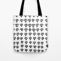 diamonds Tote Bags featuring Diamonds by Geryes