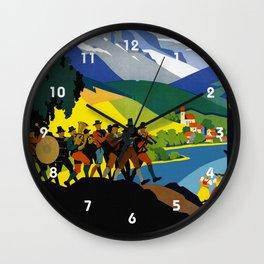 Austria - Vintage Travel Ad Wall Clock