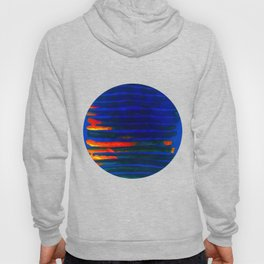 Midnight Blue Lava Lines, Our Earth Burn Marks Hoody